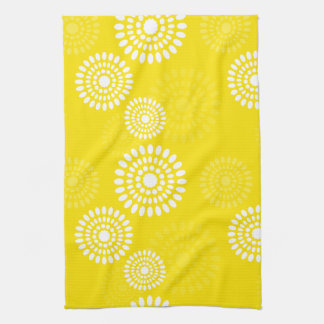 Summertime yellow flowers Towel