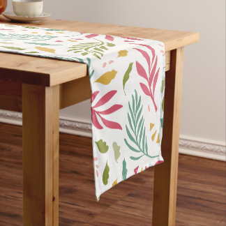 Summery Scattered Leaf Pattern ID387 Short Table Runner
