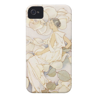 Summery Vintage Blossoming Roses Garden Beauty iPhone 4 Case-Mate Cases