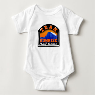 Summit Actionwear Team Sunrise Half Dome Baby Bodysuit