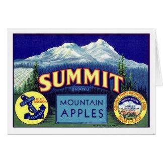Summit Apples - Vintage Fruit Crate Label Greeting Card
