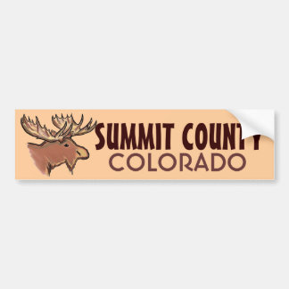 Summit County Colorado brown moose bumpersticker Bumper Sticker