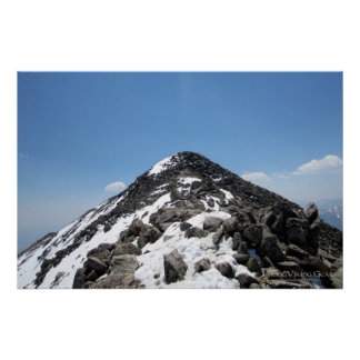 Summit of Mount Yale, Colorado Poster