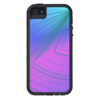 Sumo Purple and Powder Blue Curve iPhone Case