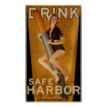 """""""Sumo Sized"""" Safe Harbour Beer Torpedo Poster"""