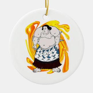 Sumo Sweeper Ceramic Ornament