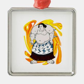 Sumo Sweeper Metal Ornament