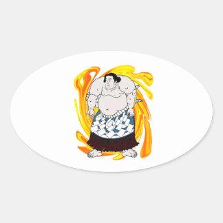 Sumo Sweeper Oval Sticker