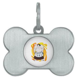 Sumo Sweeper Pet Name Tag