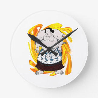 Sumo Sweeper Round Clock