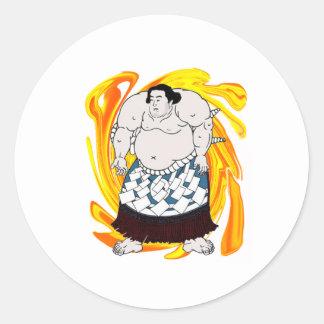 Sumo Sweeper Round Sticker