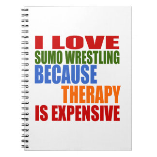 Sumo Wrestling Is My Therapy Spiral Notebook