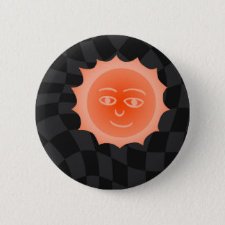 Sun 6 Cm Round Badge