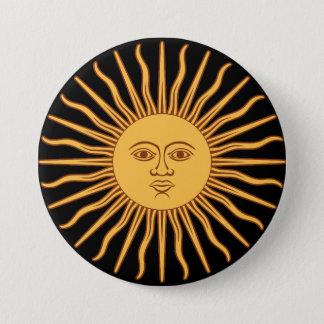 Sun 7.5 Cm Round Badge