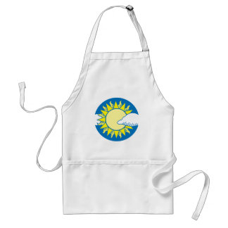 Sun And Clouds Apron