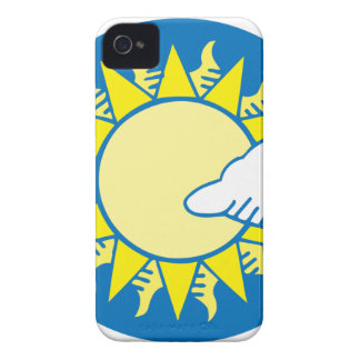 Sun And Clouds iPhone 4 Covers