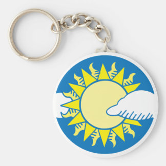 Sun And Clouds Key Chains