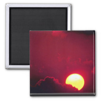 Sun and clouds magnet