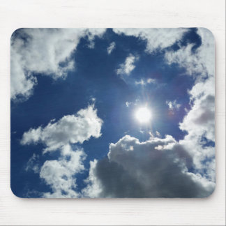 sun and clouds mouse pad