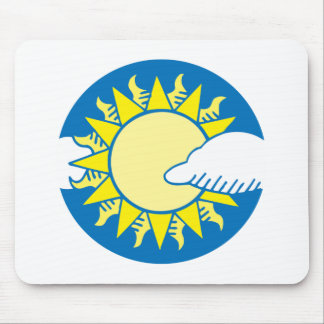 Sun And Clouds Mousepad
