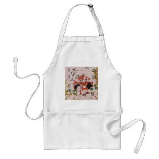 Sun and dance 妓 with bird 2 aprons