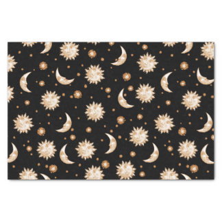 Sun and Moon Black Tissue Paper