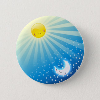 Sun and Moon Buttom 6 Cm Round Badge