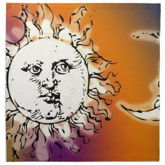 Sun and Moon Colorful Napkin