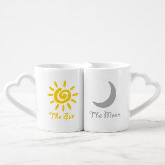 Sun and moon couples coffee mug set