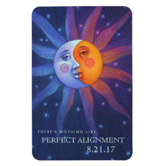 Sun and Moon Eclipse Perfect Alignment 4 x 6 Magnet