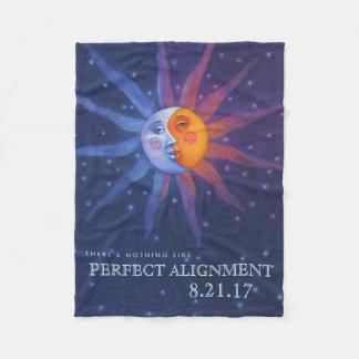 Sun and Moon Eclipse Perfect Alignment Fleece Blanket