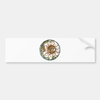 SUN AND MOON HAND PAINTED BUMPER STICKER