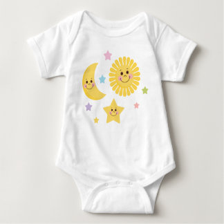 Sun and Moon Illustration Baby Bodysuit