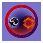 Sun and Moon in Balance Poster