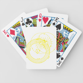 Sun and Moon Orbits Zetetic Astronomy Bicycle Playing Cards