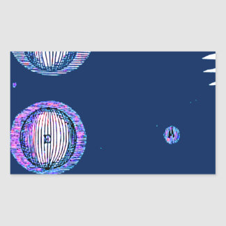 Sun and Moon Outer space Illustration Rectangular Sticker