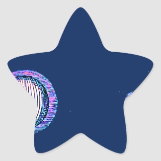 Sun and Moon Outer space Illustration Star Sticker
