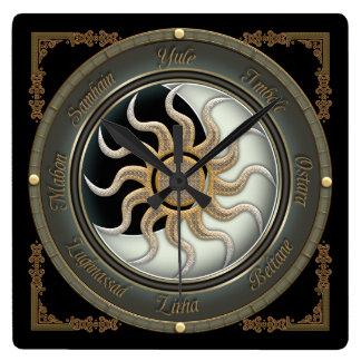 Sun and Moon Pagan Wheel Wall Clock