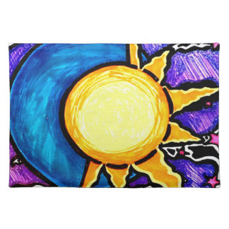 Sun and moon placemat