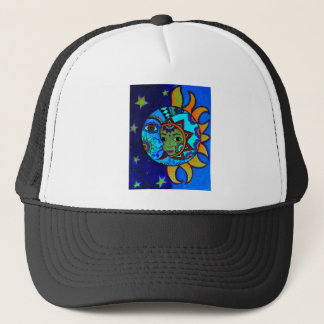 SUN AND MOON PRISARTS PAINTING TRUCKER HAT