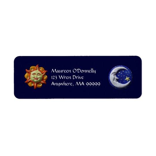 Sun and Moon Return Address Label