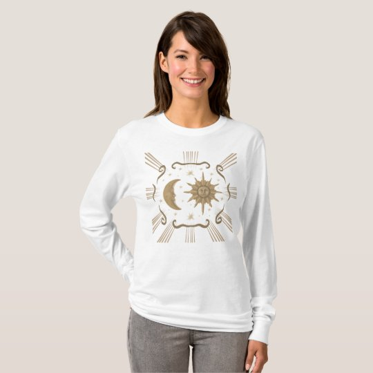 Sun and Moon spiritual women's shirt. T-Shirt
