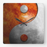 Sun and Moon Yin Yang (Customizable) Wallclocks