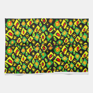Sun and peppers tea towel