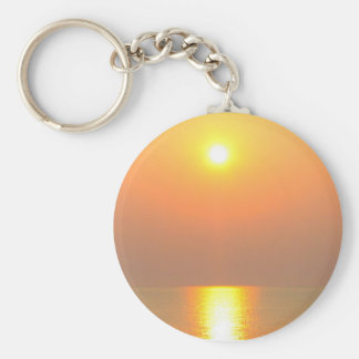 SUN AND SEA BASIC ROUND BUTTON KEY RING