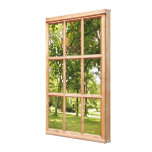 Sun and Shade 3D Effect Window View Picture Gallery Wrapped Canvas