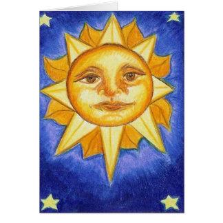 Sun and Stars Card