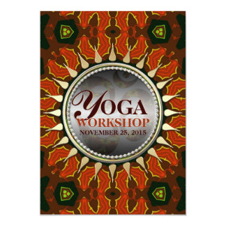 "Sun Batik Earth Yoga Workshop Invitation 5"" X 7"" Invitation Card"