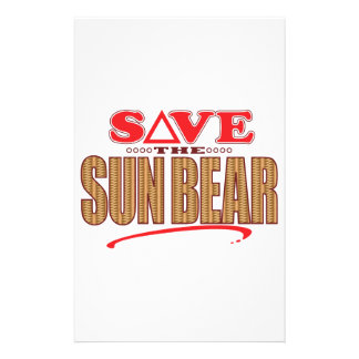 Sun Bear Save Personalised Stationery