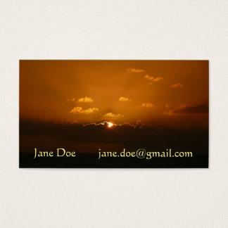 Sun Behind Clouds I Orange Seascape